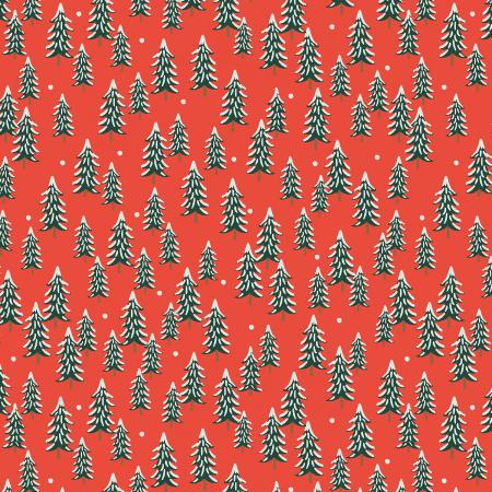 Holiday Classics - Fir Trees Red