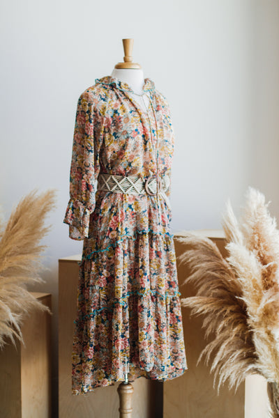 HONEY FLORAL BOHO MAXI DRESS