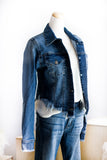 AURORA RAW CUT DENIM JACKET IN MEDIUM