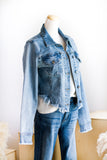 AURORA RAW CUT DENIM JACKET IN LIGHT