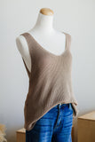 SOUTHPORT SLEEVELESS SWEATER IN MOCHA