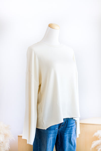 CAMPFIRE LIGHT TERRY TOP IN CREAM