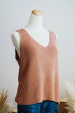 SOUTHPORT SLEEVELESS SWEATER IN GINGER