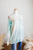MARBLE BLAZE TIE DYE SWEATER IN SKY BLUE