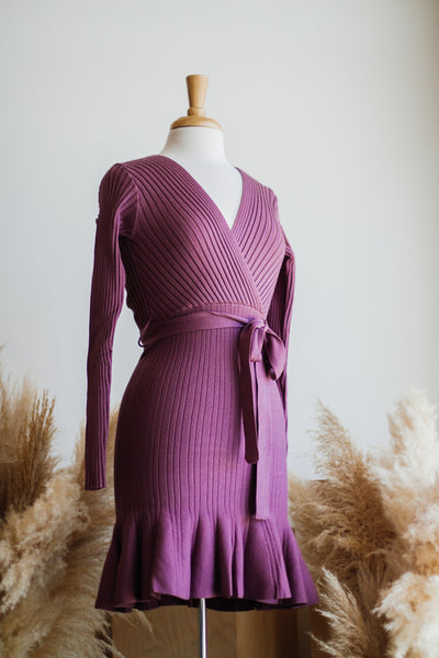 TAKE ME DANCING KNIT DRESS IN ROSE