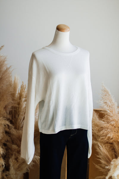 JADA THERMAL TOP IN IVORY