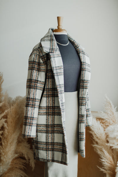 SUSSEX PLAID WOOL COAT