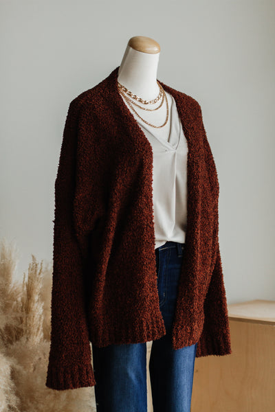 CARLY CARDIGAN IN HAZELNUT