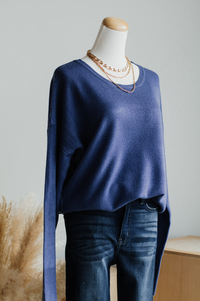 AUTUMN DAYS SWEATER IN INDIGO