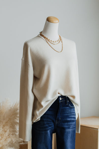 AUTUMN DAYS SWEATER IN IVORY