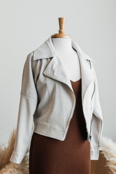 VERVE CREAM MICRO CORD JACKET