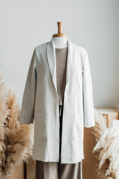 TOUR EIFFEL FAUX SUEDE TRENCH IN IVORY