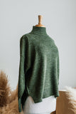 HEY HUN MOCK NECK SWEATER IN OLIVE