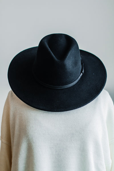 JUCAR PANAMA HAT IN BLACK