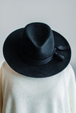 BOHO PANAMA HAT IN BLACK
