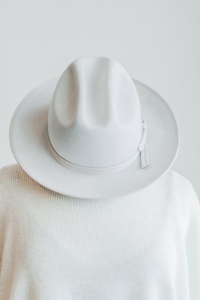 LUCCA FEDORA IN BONE WHITE