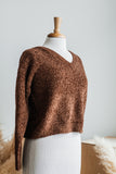 ALDEN LANE CHENILLE SWEATER IN HAZELNUT
