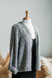 CARLY CARDIGAN IN HEATHER GRAY