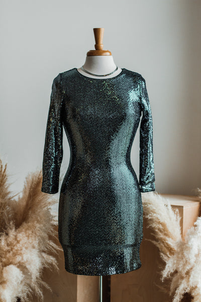 BLACK TIE AFFAIR GLITZY MINI DRESS