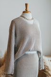 JO STRIPE SWEATER TOP IN CAMEL