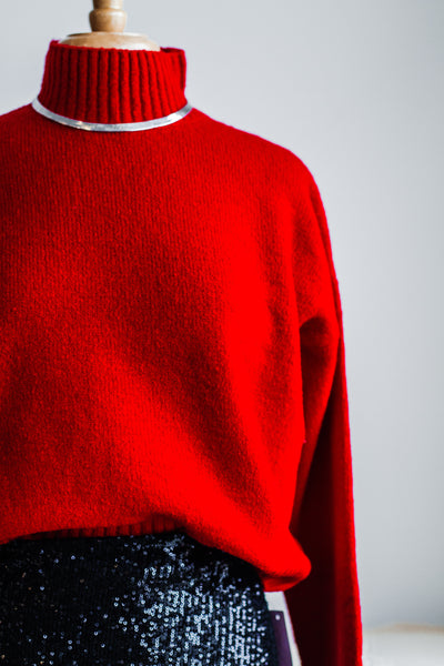 JUST NOVEMBER SWEATER IN RED