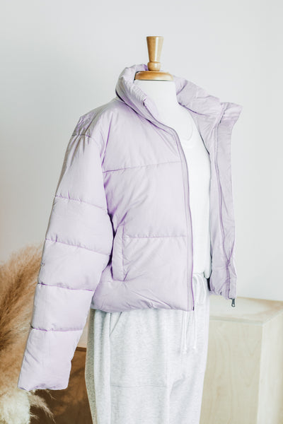 VAIL PUFF COLD WEATHER COAT IN LILAC