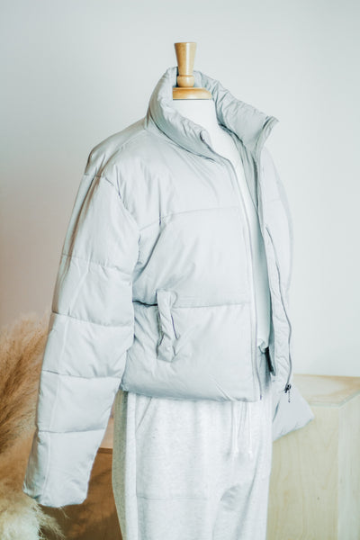 VAIL PUFF COLD WEATHER COAT IN CLOUD