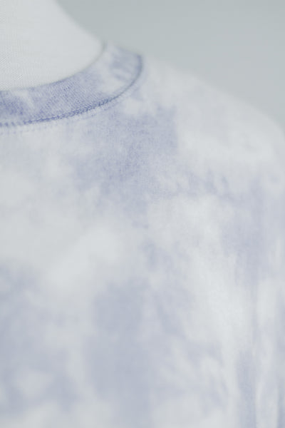 CLOUD NINE SOFT SWEATSHIRT IN MARBLE PERIWINKLE