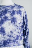 CLOUD NINE SOFT SWEATSHIRT IN MARBLE INDIGO