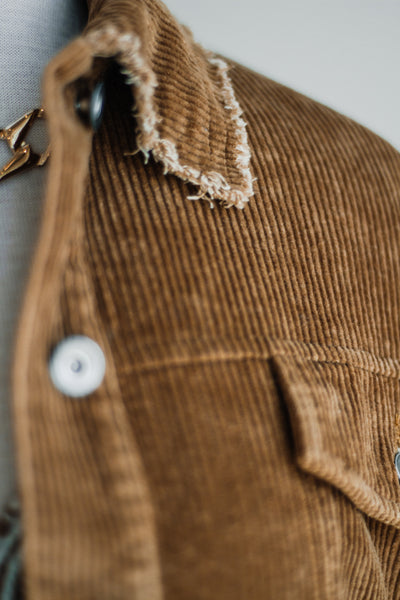 ROAD CREW CORDUROY SHIRT JACKET IN CAMEL