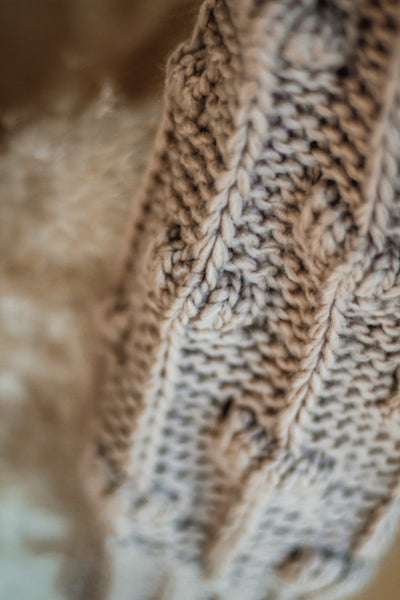 MAURY THICK CARDIGAN IN TAUPE