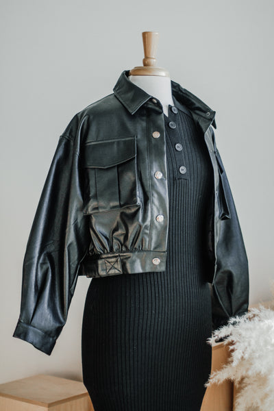 DANNY VEGAN LEATHER MOTO JACKET