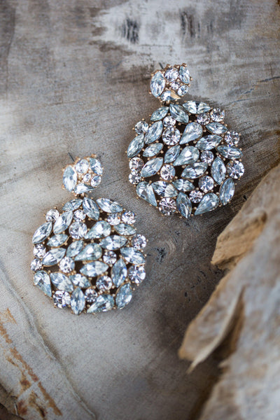 OPHELIA STATEMENT RHINESTONE EARRINGS