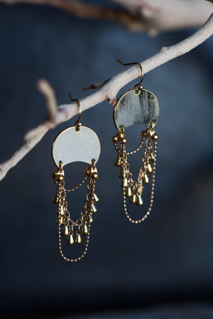 KYEMI BOHO GOLD COIN EARRINGS