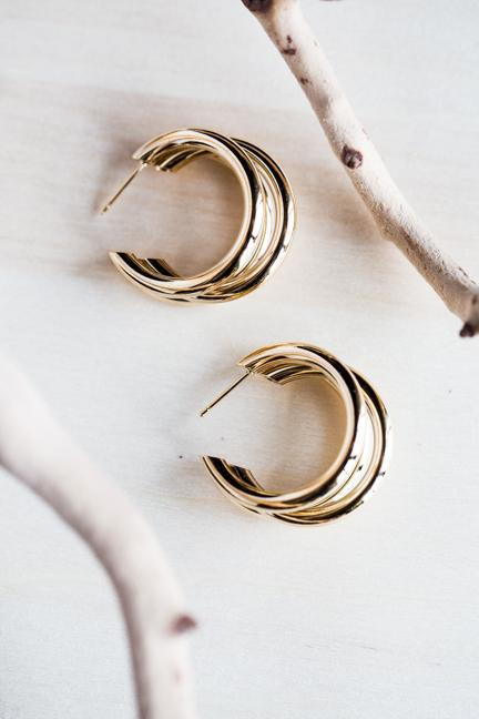 ROUND AGAIN EARRINGS IN GOLD