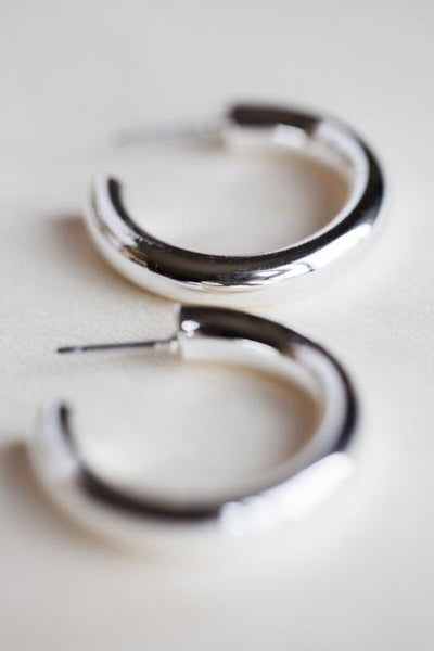 PIPE DREAM EARRINGS IN SILVER