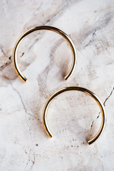 THIRD QUARTER MOD EARRINGS IN GOLD