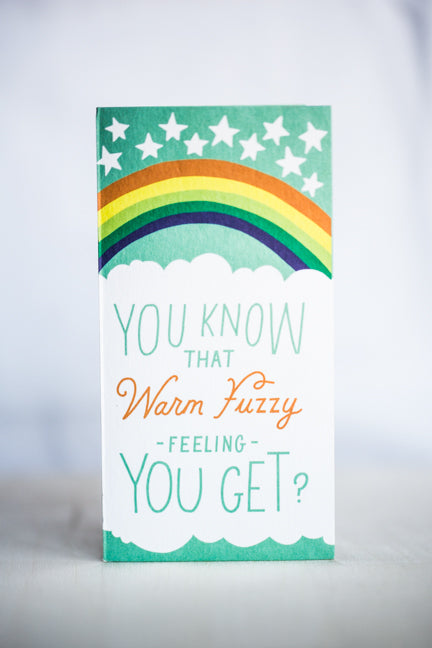 FUZZY FEELING GREETING CARD