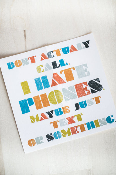 DON'T ACTUALLY CALL GREETING CARD