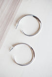 CALI HOOP EARRINGS IN SILVER