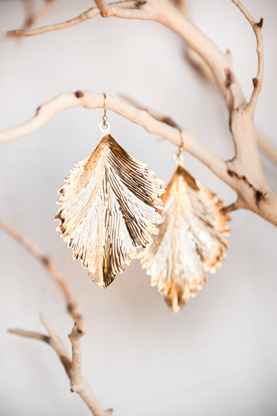ELM GOLD LEAF EARRINGS