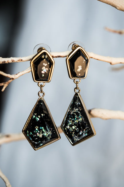 GALAXY STONE DANGLE EARRINGS