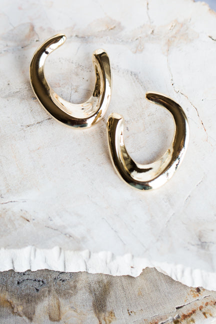 ALMA WAVE EARRINGS IN GOLD