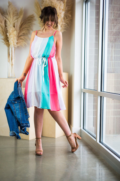 CANDY POP MIDI DRESS