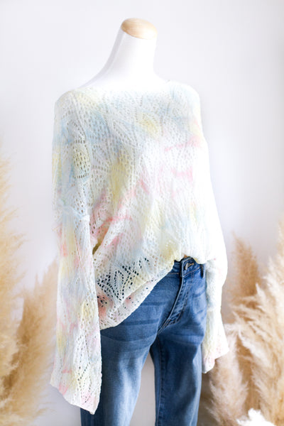 COTTON CANDY TIE DYE SPRING SWEATER