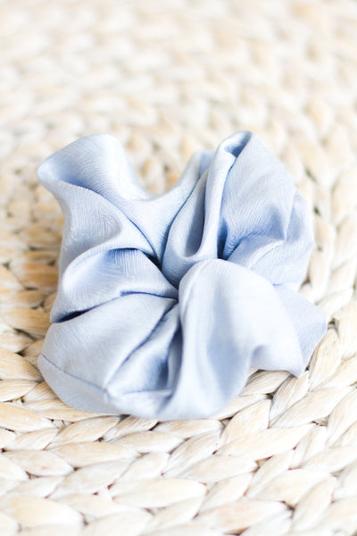 BABY BLUE HAIR SCRUNCHIE