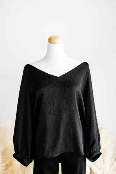 EMILY HAMMER TEXTURE BLOUSE