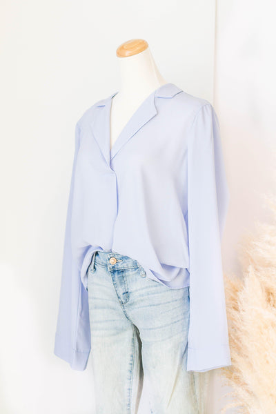 CAMBERLEY BLOUSE IN SKY BLUE