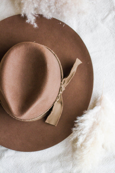 BOHO PANAMA HAT IN PECAN