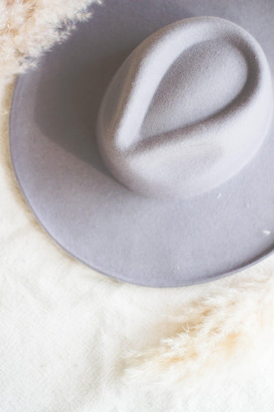 CAROLINA WOOL WIDE BRIM HAT IN GREY